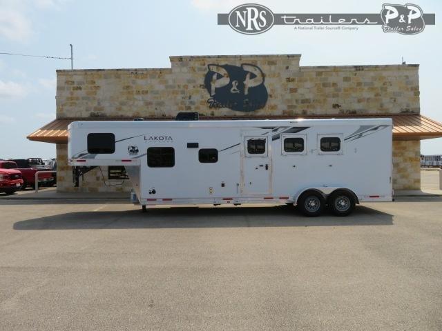 2022 Lakota Charger C39NS 3 Horse Slant Load Trailer 9 FT LQ