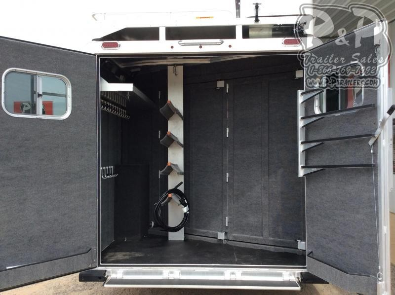 2021 Platinum Coach 8415OLRSL 4 Horse Slant Load Trailer 15 FT LQ With Slide w/ Side Ramp