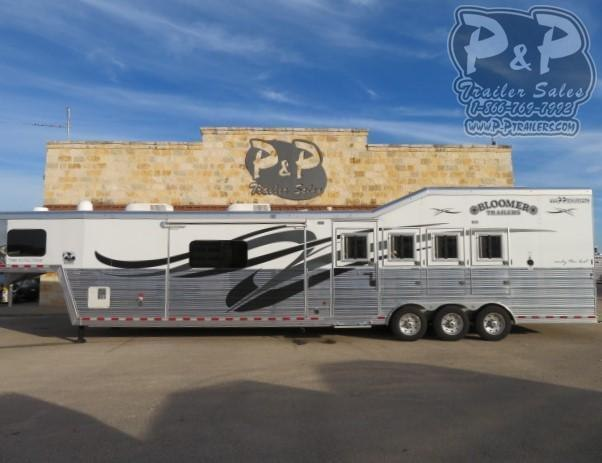2020 Bloomer PC Load w/ Outlaw Conversion 4 Horse Slant Load Trailer 17 FT LQ With Slides w/ Ramps