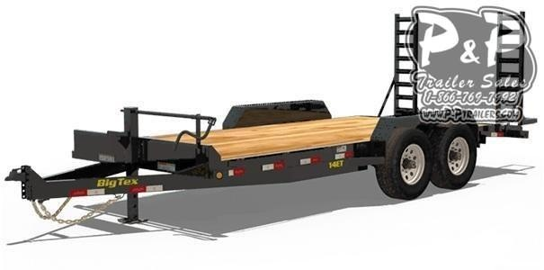 "2021 Big Tex Trailers 14ET-18BK-MR 216 "" Flatbed Trailer"