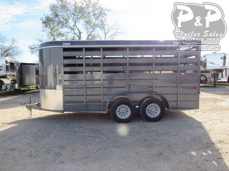 "2020 CM Stocker 16 ft. 6' W x 6' 6"" T 16 ft Livestock Trailer"