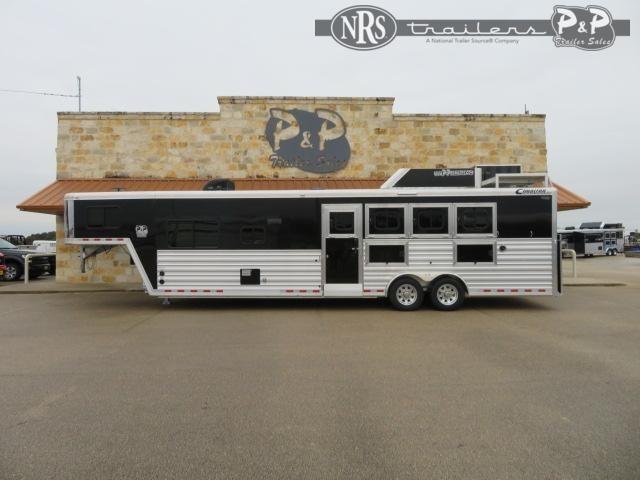 2020 Cimarron Trailers Norstar 8413OBSR 4 Horse Slant Load Trailer 12.75 FT LQ w/ Ramps