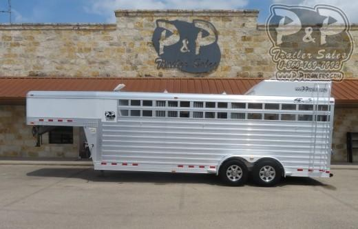 2015 4-Star Trailers 22' Stock 4 Horse Slant Load Trailer