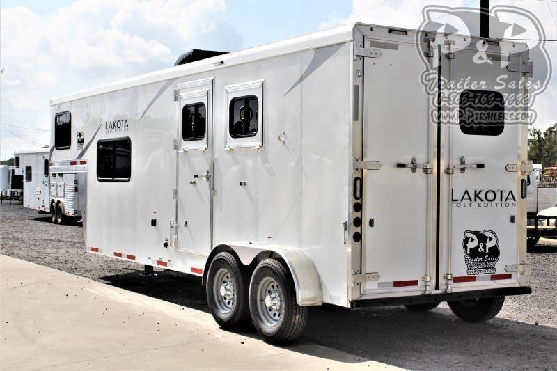 2021 Lakota AC29NS 2 Horse Slant Load Trailer 9 FT LQ
