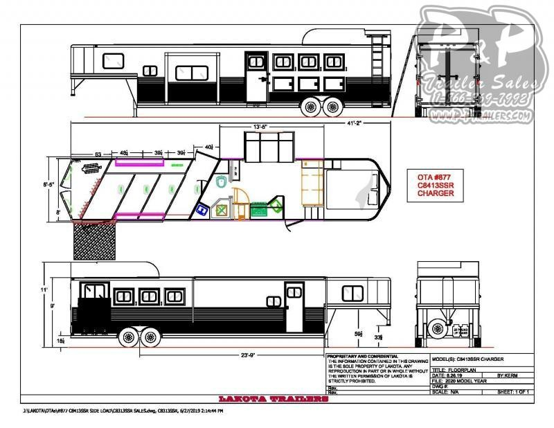 2021 Lakota C8413SRRSL 4 Horse Slant Load Trailer 13 FT LQ With Slides w/ Ramps
