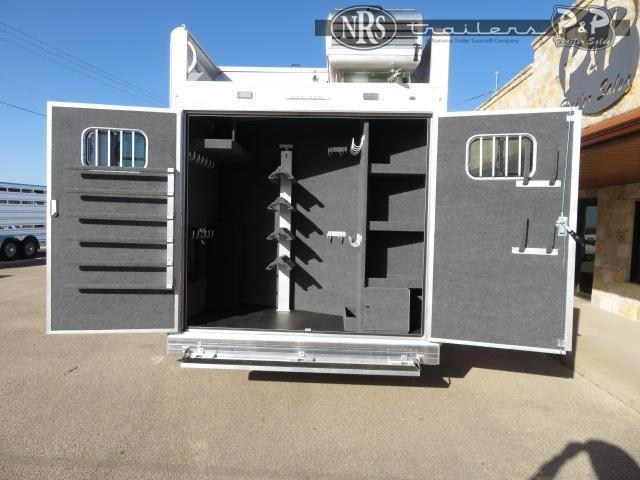 2021 Bloomer 8413PCPL PC Outlaw ProLine Conversions 4 Horse Slant Load Trailer 13 FT LQ