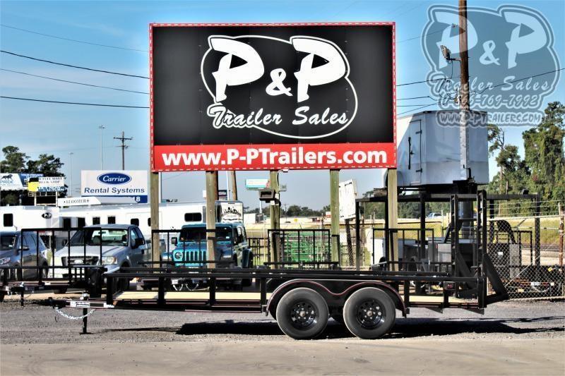 "2021 P and P PPTA16X83LDFURPT 83"" x 16 ' Utility Trailer"