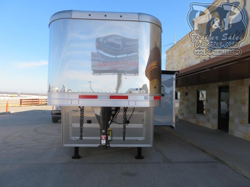 2020 Lakota Bighorn BH8416TSRBRSL 4 Horse Slant Load Trailer 16 FT LQ With Slide