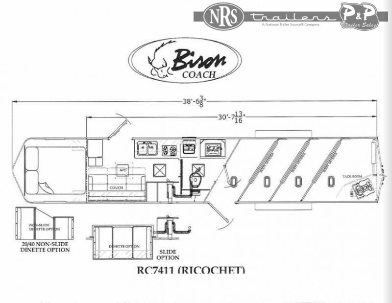 2022 Bison Trailers RC7411.S 4 Horse Slant Load Trailer 0 FT LQ With Slides
