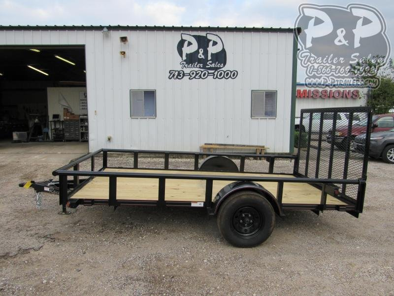2021 P and P PPSA12X77LDRGPT 12 ' Utility Trailer