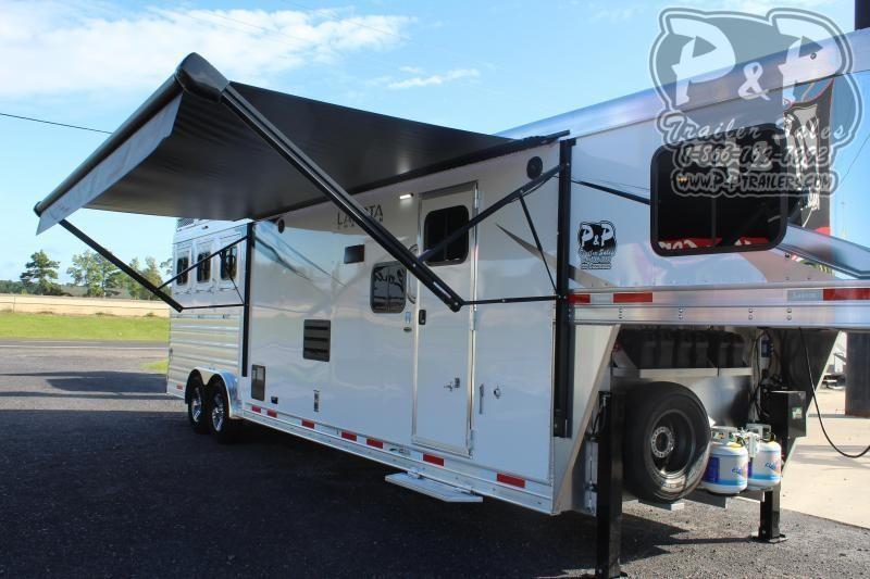 2021 Lakota Charger C8313SR 3 Horse Slant Load Trailer 13 FT LQ With Slides