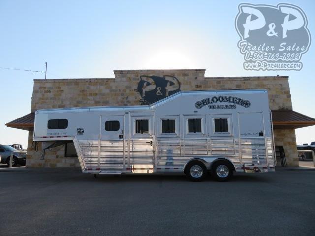 2021 Bloomer 84TRNS Super Tack 4 Horse Slant Load Trailer w Ramps