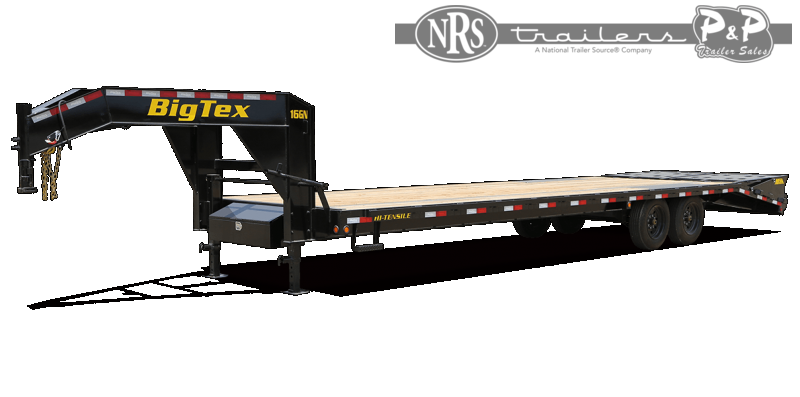 2021 Big Tex Trailers 16GN-25BK+5MR 30 ' Flatbed Trailer