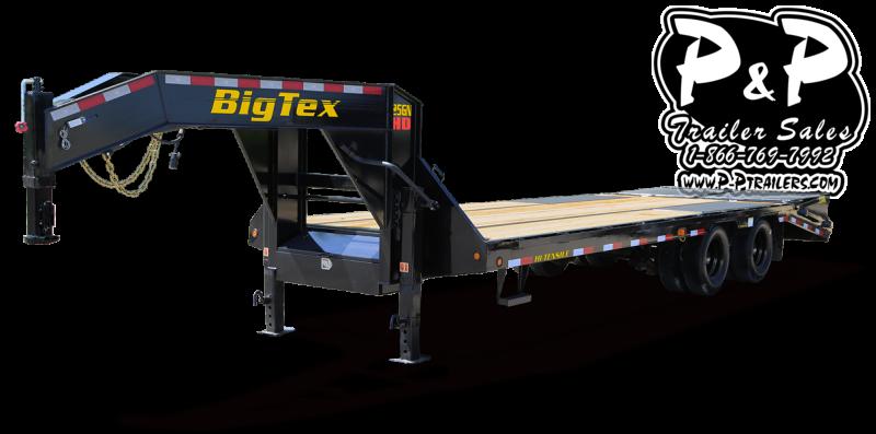 2021 Big Tex Trailers 25GN-25BK+5MR Flatbed Trailer
