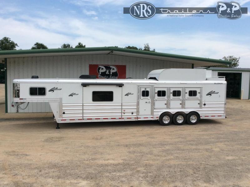 2021 Platinum Coach 8415OLRSL 4 Horse Slant Load Trailer 15 FT LQ w/ Slideout