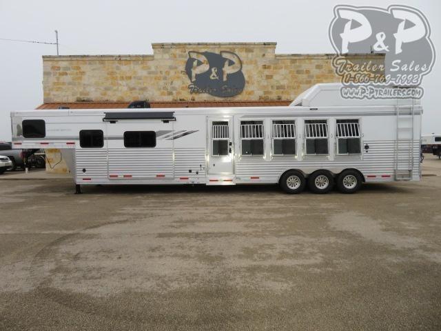 2021 SMC Horse Trailers SL8513SSRT PC Load 5 Horse Slant Load Trailer 13 FT LQ With Slides w/ Ramps