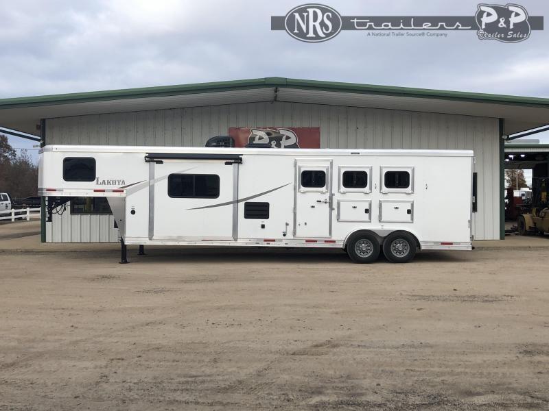 2021 Lakota AC8313 3 Horse Slant Load Trailer 13 FT LQ w/ Slideouts