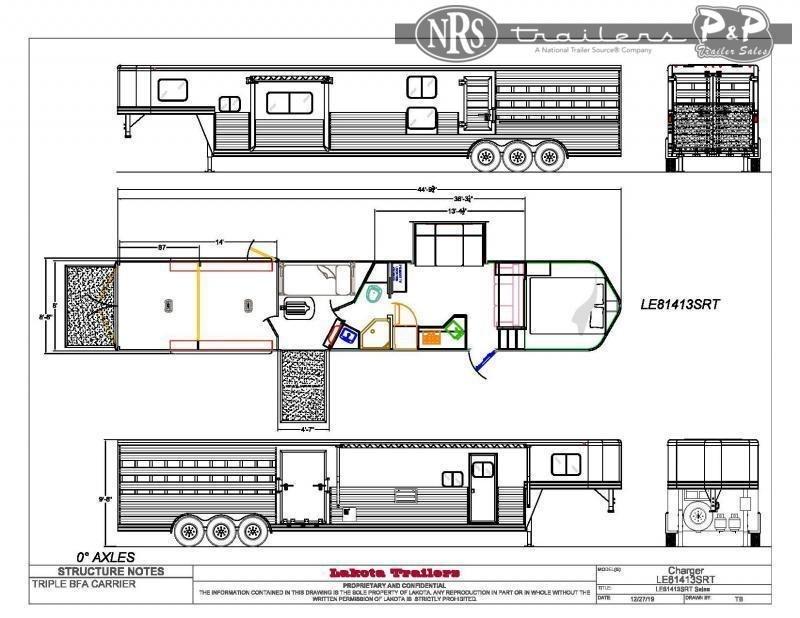 2022 Lakota Charger LE81413T 34 ' Livestock Trailer LQ
