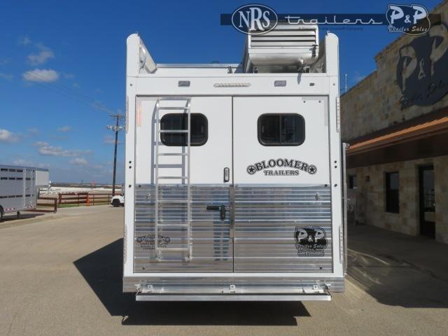 2021 Bloomer 8418PCOLCE 4 Horse Slant Load Trailer 18 FT LQ With Slides w/ Ramps
