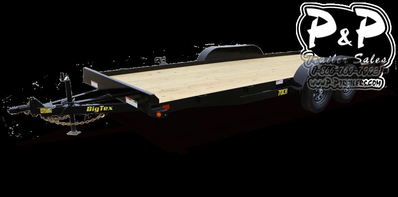2021 Big Tex Trailers 70CH 18BKDT 18 Flatbed Trailer