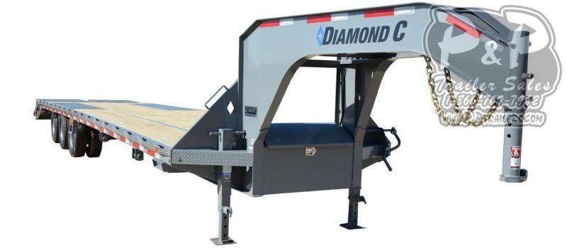 2021 Diamond C Trailers FMAX312 Gooseneck Flatbed Trailer