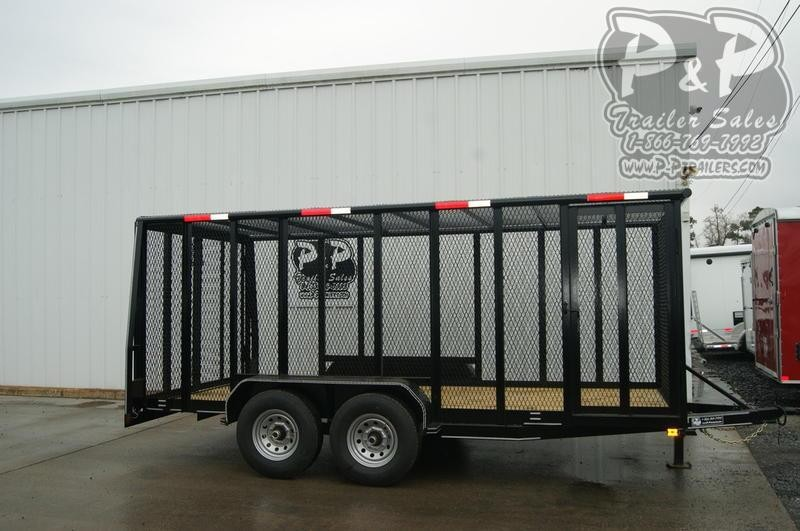 "2021 P and P Cage Trailer 83"" x 16 ' Utility Trailer"