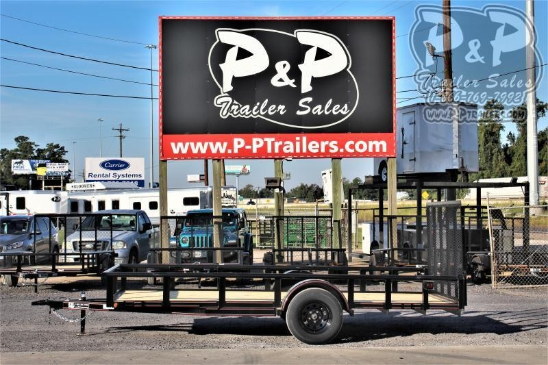 "2020 P and P PPSA14X77LDRGPTDT 77"" x 14 ' Utility Trailer"