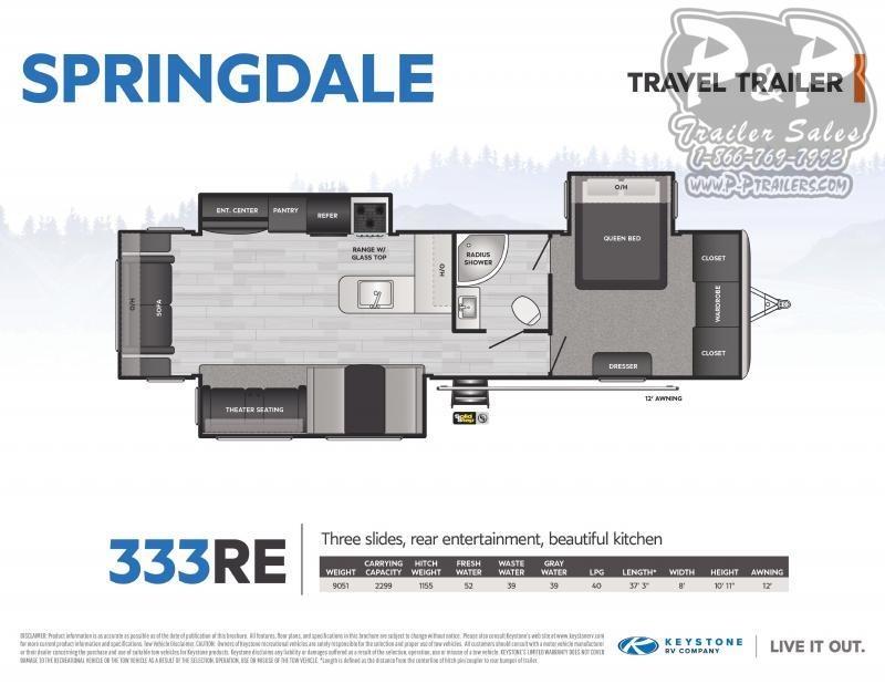 2021 Keystone RV Springdale 333RE Travel Trailer RV