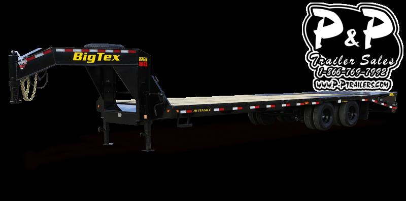 2021 Big Tex Trailers 22GN 20BK 5MR 25 Flatbed Trailer