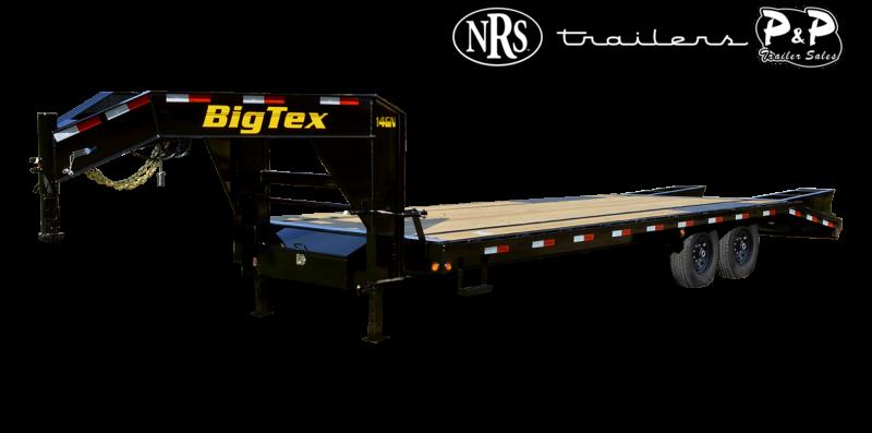 2022 Big Tex Trailers 14GN-20BK+5MR 25 ' Flatbed Trailer