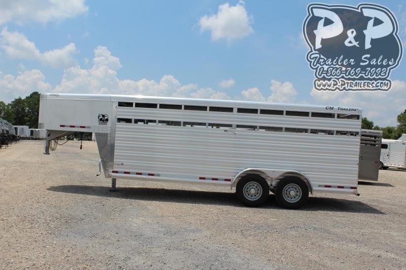 2019 CM CMS2040-20 Roundup AL 20' 20 ft Livestock Trailer