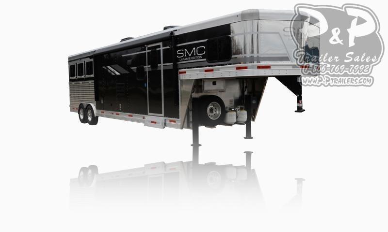 2021 SMC Horse Trailers SL8X13SSR LARAMIE 3 Horse Slant Load Trailer 13 FT LQ With Slides
