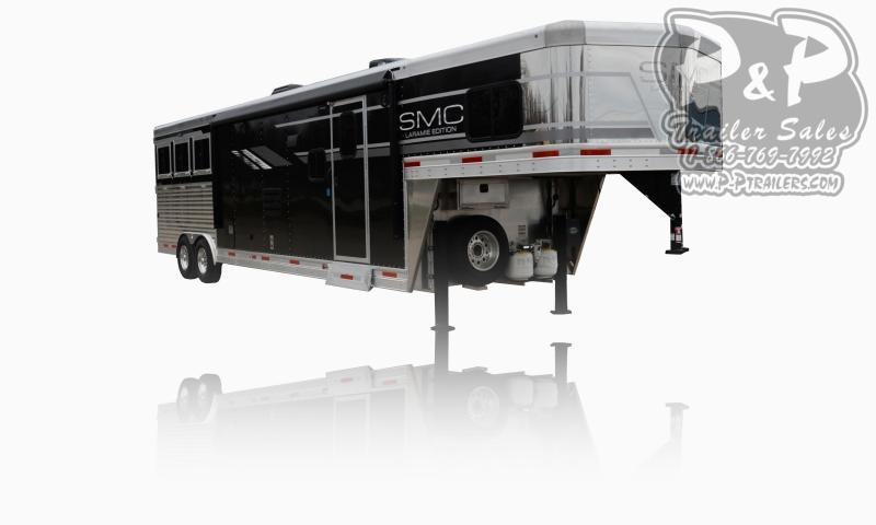 2021 SMC Horse Trailers SL8X13SSR LARAMIE 3 Horse Slant Load Trailer 13 FT LQ With Slides