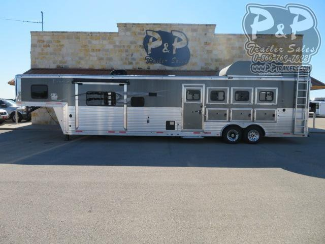 2015 Lakota Big Horn BB8414 4 Horse Slant Load Trailer 14 FT LQ With Slides