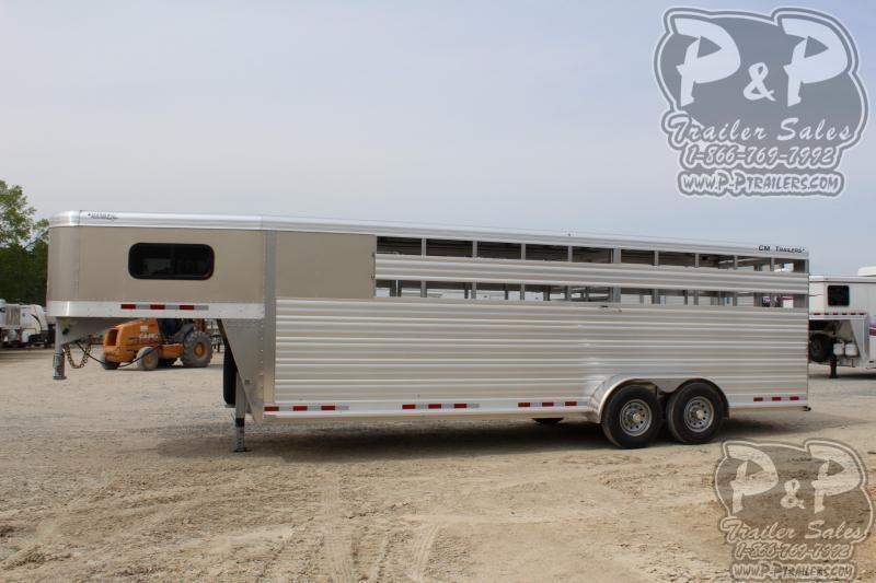 "2020 CM Roundup AL 24 6'8"" W x 7' T Livestock Trailer"