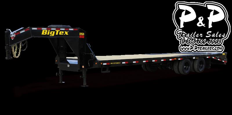 2020 Big Tex Trailers 22GN-28BK+5MR 33 ft Flatbed Trailer