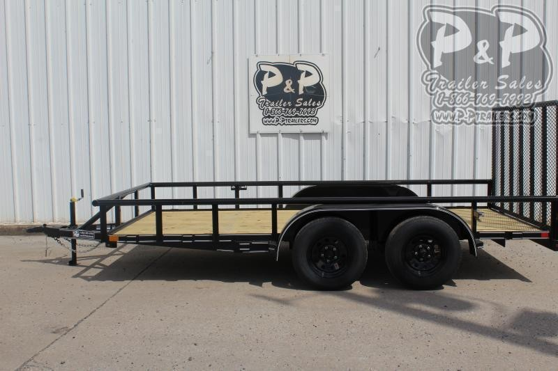 2021 P and P PPTA14X83LDRGPT 83 x 14 Utility Trailer