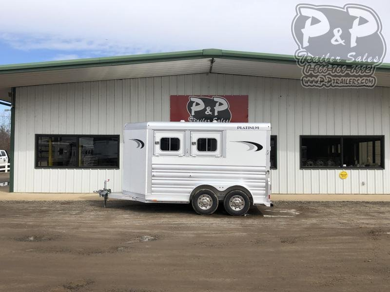 2021 Platinum Coach 762BP 2 Horse Slant Load Trailer