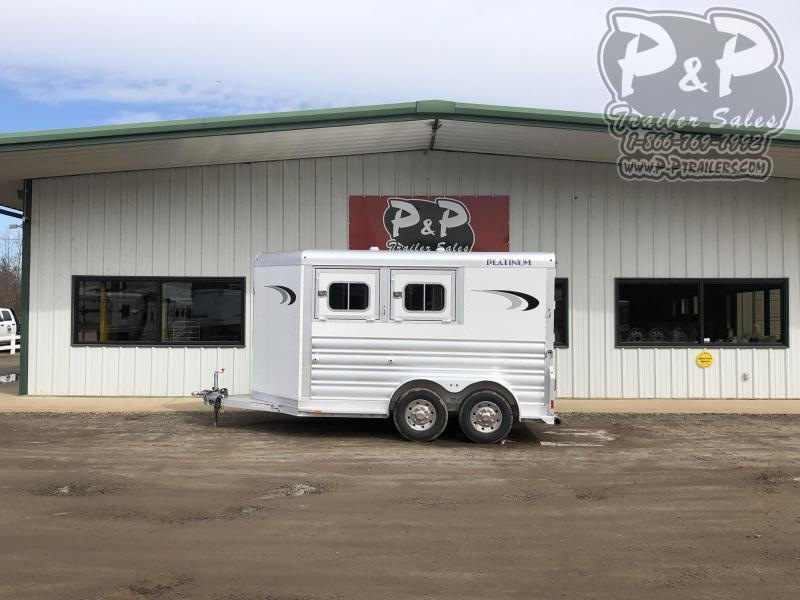 2021 Platinum Coach 762BP 2 Horse Slant Load Trailer