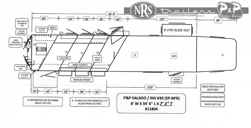 2022 Bloomer 8416PCOL 4 Horse Slant Load Trailer 16 FT LQ With Slides w/ Ramps