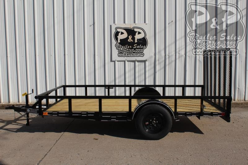 "2021 P and P PPSA12X77LDRGPT 77"" x 12 ' Utility Trailer"
