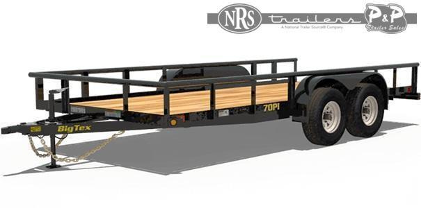 2021 Big Tex Trailers 70PI-18XBK 18 ' Utility Trailer