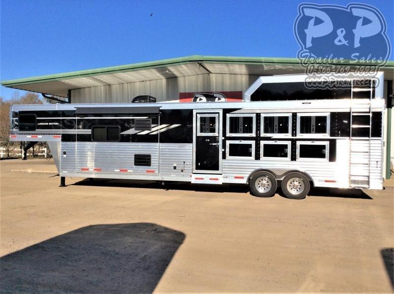2021 SMC Horse Trailers SL8415SRKCE 4 Horse Slant Load Trailer 15 FT LQ With Slides