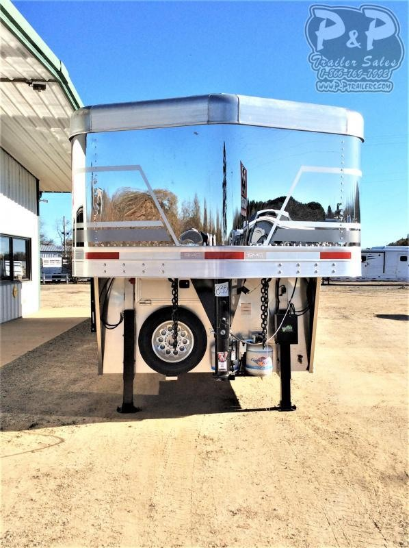 2021 SMC Horse Trailers SL8415SRKCE 4 Horse Slant Load Trailer 15 FT LQ With Slides