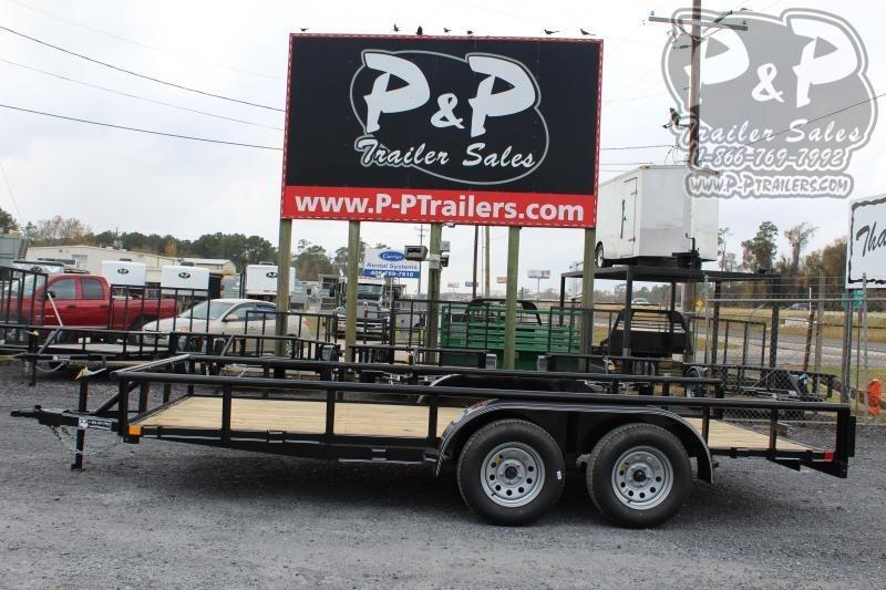 2020 P and P PPTA16X83LDSRPT 16 ft Utility Trailer