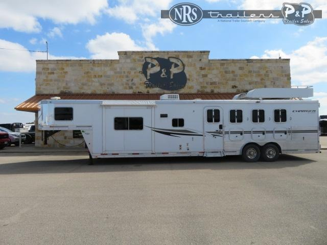 2012 Lakota Charger C8415 4 Horse Slant Load Trailer 15 FT LQ With Slides