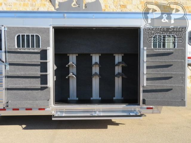 2021 Bloomer 764TRN Super Tack Trainer 4 Horse Slant Load Trailer w/ Ramps