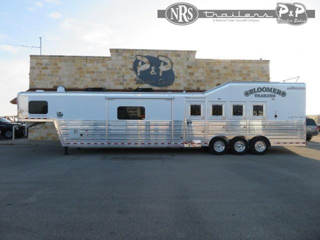 2021 Bloomer 8417 PC Load Outlaw Conversions 4 Horse Slant Load Trailer 17 FT LQ w/ Slideouts