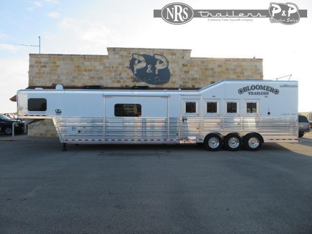 2021 Bloomer 8417 PC Load Outlaw Conversions 4 Horse Slant Load Trailer 17 FT LQ w/ Slideouts
