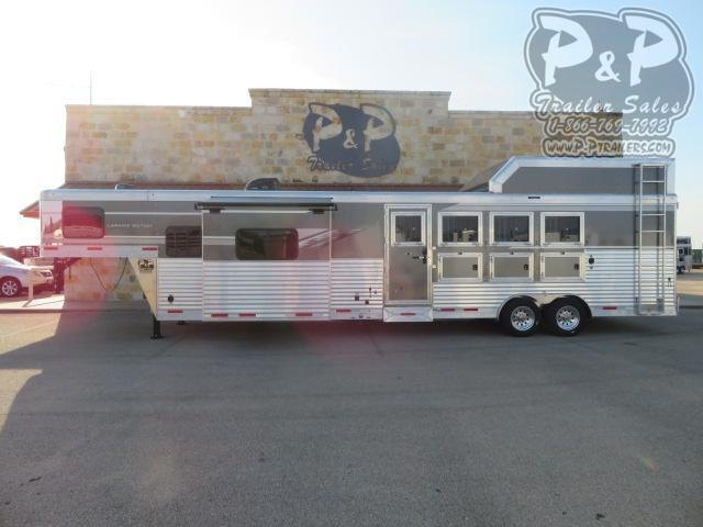 2021 SMC Horse Trailers SL8413SSRRSL 4 Horse Slant Load Trailer 14 FT LQ With Slides w/ Ramps